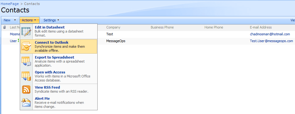 Connect To Outlook screenshot