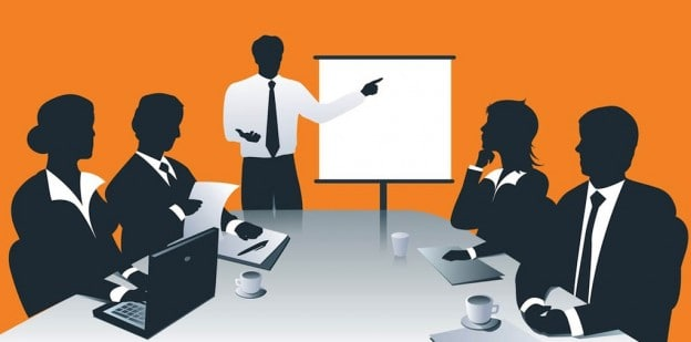 board room meeting graphic