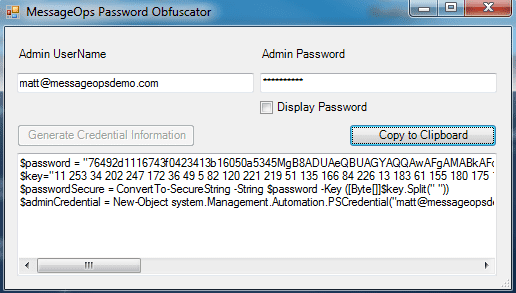 MessageOps Password Obfuscator