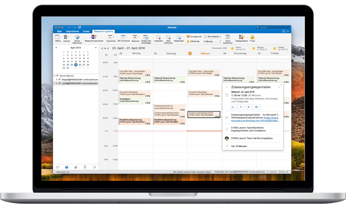 Outlook Dual Time Zone Macbook Pro