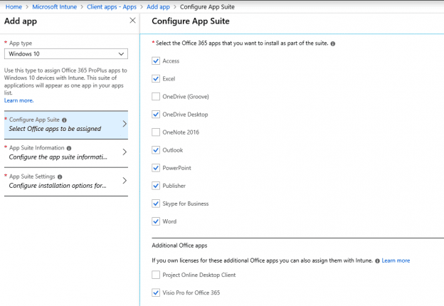, How to Deploy Office ProPlus with Microsoft Intune