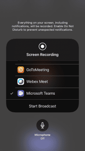 iphone screen recording layer
