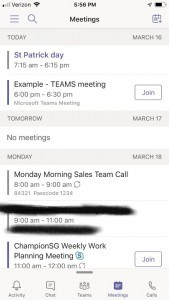 microsoft teams app meetings overview screenshot