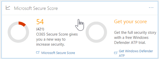 ms secure score overview screenshot