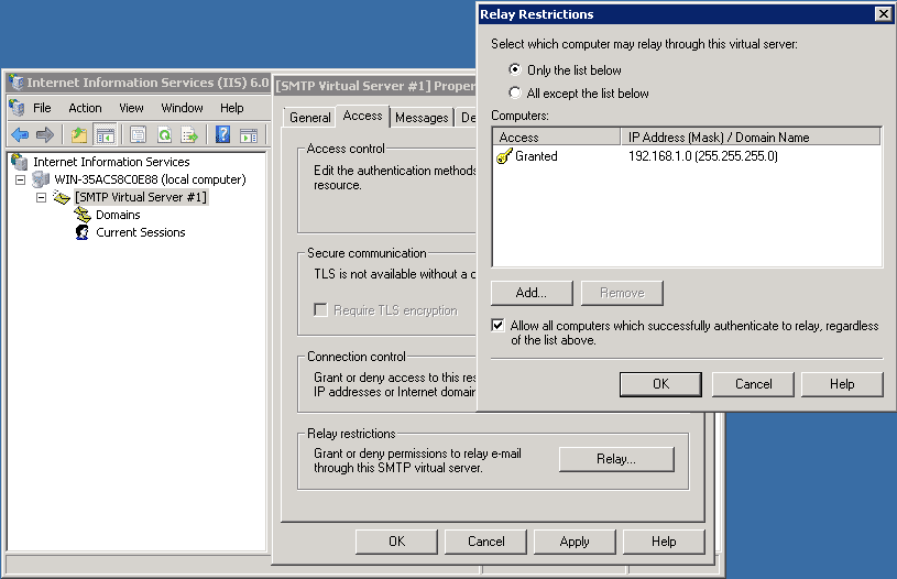SMTP Relay with Office 365