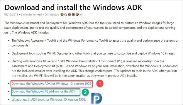 download windows ADK screenshot