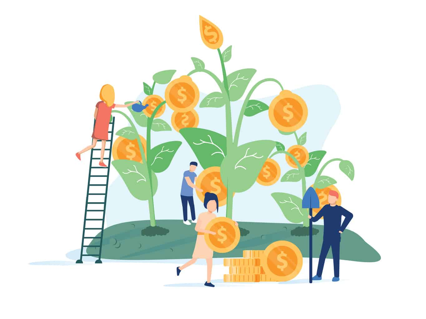 people engaged in the cultivation of money