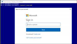 connect to azure ad powershell - step 3