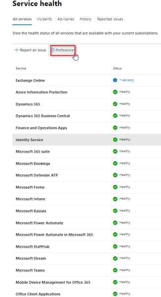 How to Setup Notifications in the Office 365 Admin Center for Microsoft Service Outages
